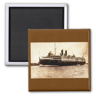 Steamer City of Cleveland - Louis Pesha Photo 2 Inch Square Magnet