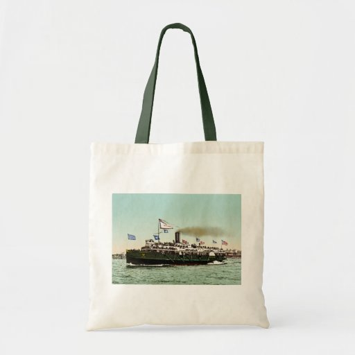 """Steamer """"City of Erie""""  1900 Budget Tote Bag"""