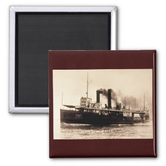 Steamer City of New York - Louis Pesha - D&C Line 2 Inch Square Magnet