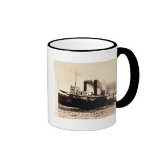 Steamer City of New York - Louis Pesha - D&C Line Ringer Coffee Mug