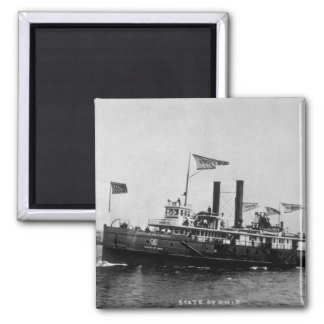Steamer City of Ohio - Louis Pesha Photo 2 Inch Square Magnet