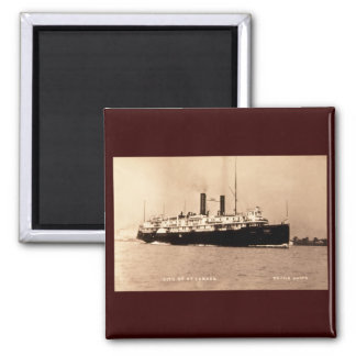 Steamer City of St. Ignace D&C Line  - Louis Pesha 2 Inch Square Magnet