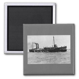 Steamer Comodore - Louis Pesha Photo 2 Inch Square Magnet