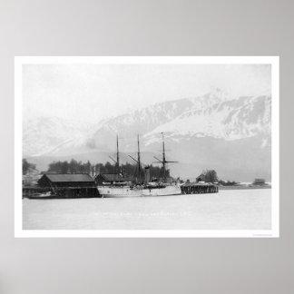 Steamer Docked in Seward, Alaska 1916 Poster