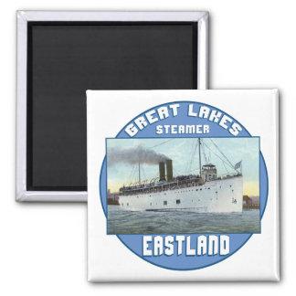 Steamer Eastland 2 Inch Square Magnet