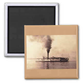Steamer Frank E. Kirby - Louis Pesha 2 Inch Square Magnet