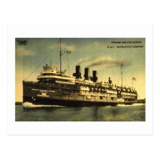 Steamer Greater Detroit, D&C Navigation Company Postcards
