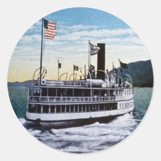 "Steamer ""Horicon"", Lake George, New York Classic Round Sticker"