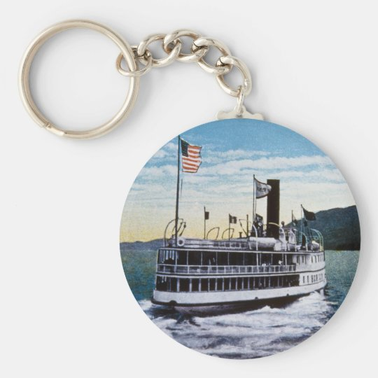 "Steamer ""Horicon"", Lake George, New York Keychain"