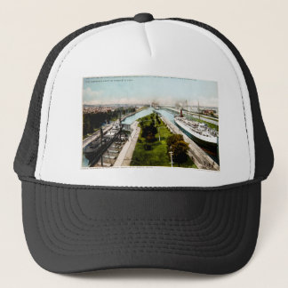 Steamer in the Locks, Sault Ste.Marie, Michigan Trucker Hat
