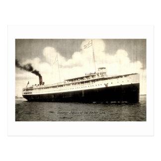 Steamer Juniata of the Anchor Line Post Card