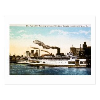 Steamer La Salle, Detroit River Postcard