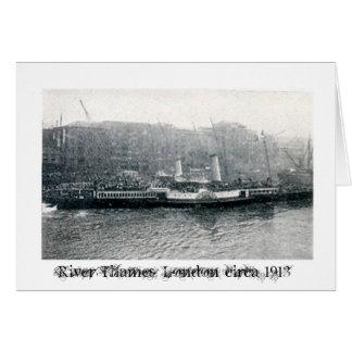Steamer leaving Fresh Wharf, London Card