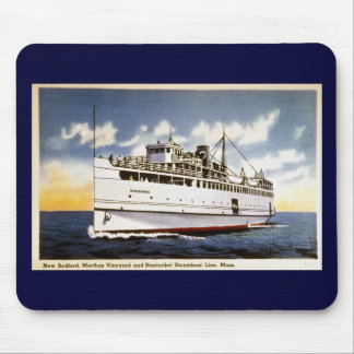 Steamer Naushon, Nantucket Steamboat Line, Mass. Mouse Pad