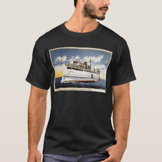 Steamer Naushon, Nantucket Steamboat Line, Mass. T-Shirt