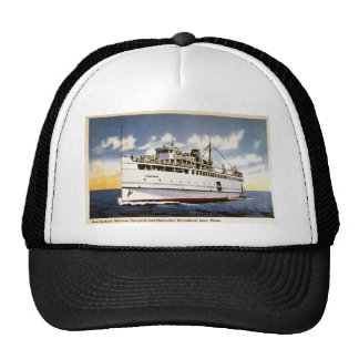 Steamer Naushon, Nantucket Steamboat Line, Mass. Trucker Hat