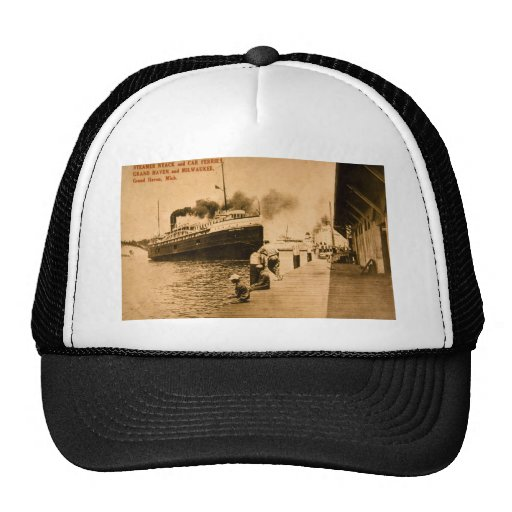 Steamer Nyack and Car Ferries, Grand Haven, MI Trucker Hat