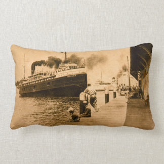Steamer Nyack and Car Ferries Grand Haven, MI Pillows