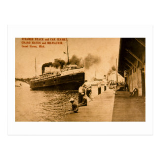 Steamer Nyack and Car Ferries Grand Haven MI Post Cards