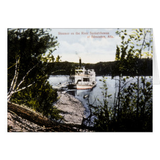 Steamer on River Saskatchewan, Edmonton, Alta. Card