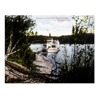 Steamer on River Saskatchewan, Edmonton, Alta. Post Card