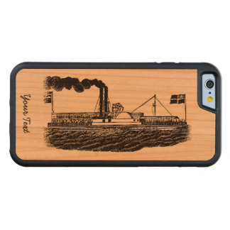 Steamer/Paddle Boat Travel in Vintage Times Design Carved® Cherry iPhone 6 Bumper Case