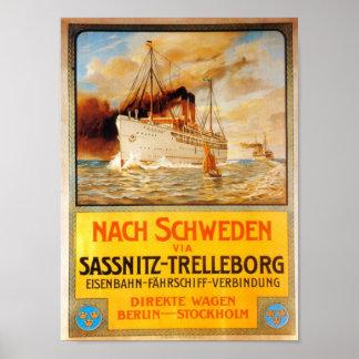 Steamer Ship Poster