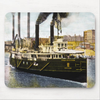 Steamer State of Ohio Leaving Dock Toledo Ohio Mouse Pad