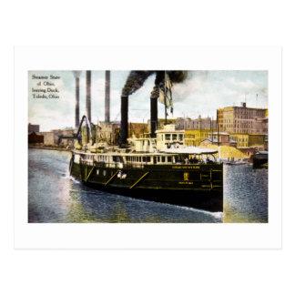 Steamer State of Ohio Leaving Dock, Toledo, Ohio Postcard