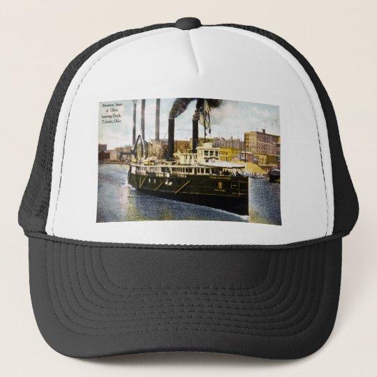 Steamer State of Ohio Leaving Dock, Toledo, Ohio Trucker Hat