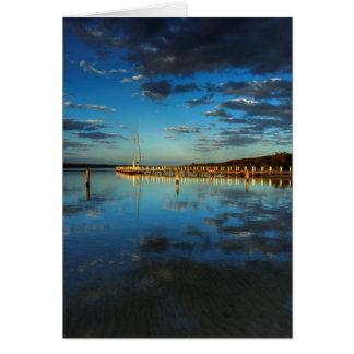 Steamer Sunset Card