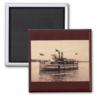 Steamer Thousand Islander 2 Inch Square Magnet