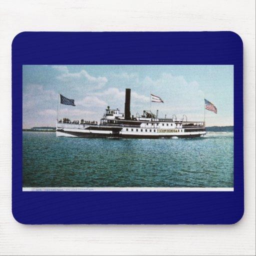 Steamer Ticonderoga on Lake Champlain Mouse Pad