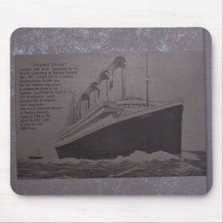 steamer titanic mouse pad