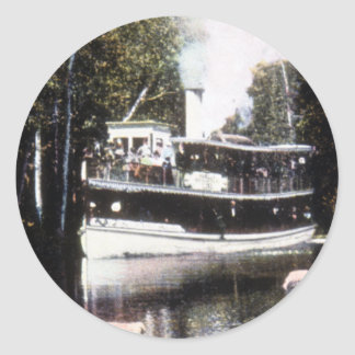 Steamer Topinabee at Devil's Elbow, Michigan Classic Round Sticker