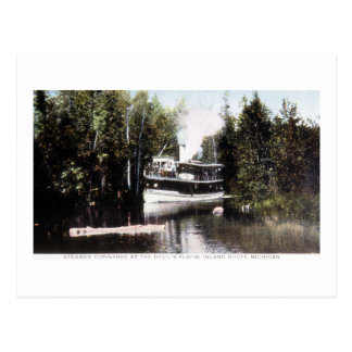 Steamer Topinabee at Devil's Elbow, Michigan Postcard
