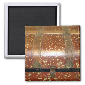 Steamer Trunk 2 Inch Square Magnet