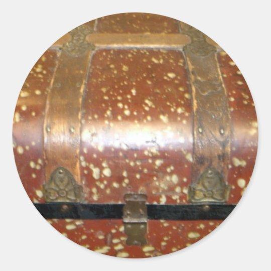 Steamer Trunk Classic Round Sticker