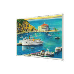 Steamers Catalina and Avalon at Pier, and Casino Gallery Wrapped Canvas