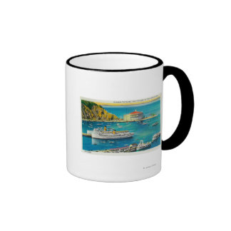 Steamers Catalina and Avalon at Pier, and Casino Mugs