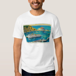 Steamers Catalina and Avalon at Pier, and Casino T-Shirt