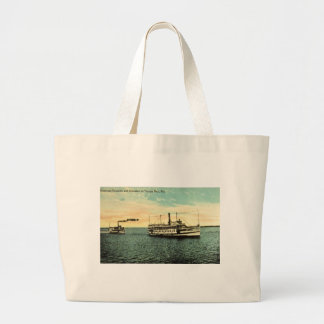 Steamers Favorite and Manatee, Tamba Bay, FLA Large Tote Bag