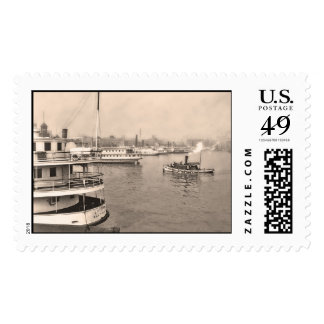 Steamers in Baltimore Harbor Postage Stamps