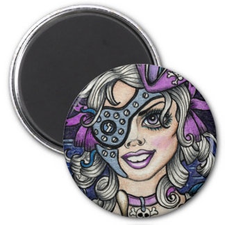 Steamface #10 Steampunk Pirate Magnet