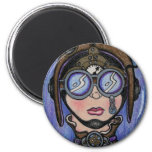 Steamface #1 Steampunk 2 Inch Round Magnet