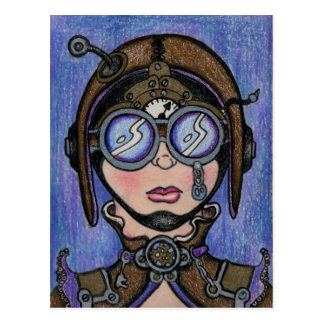 Steamface #1 Steampunk Postcard