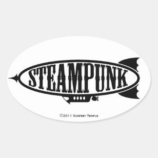 Steamfish Oval Sticker