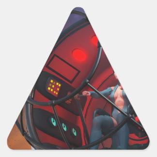 Steamfish Pilot Triangle Sticker