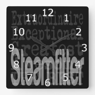 Steamfitter Extraordinaire Square Wall Clock