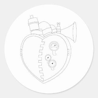 SteamHeart Round Stickers